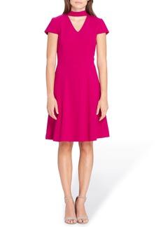 Tahari Choker Fit & Flare Dress (Regular & Petite)