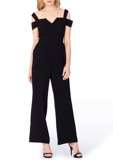 Tahari Cold Shoulder Jumpsuit