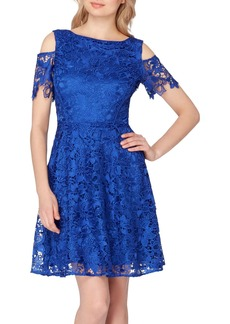 Tahari Cold Shoulder Lace Dress