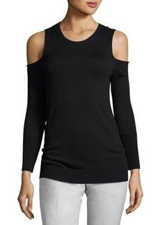 Tahari Cold-Shoulder Pullover Sweater