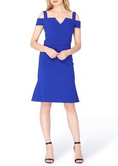 Tahari Cold Shoulder Sheath Dress