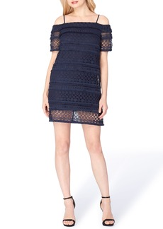 Tahari Cold Shoulder Shift Dress
