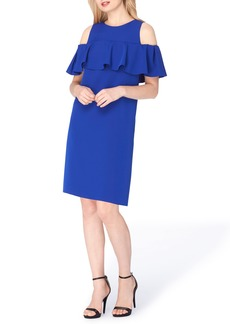 Tahari Cold Shoulder Shift Dress (Regular & Petite)