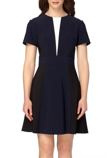 Tahari Colorblock Fit & Flare Dress (Regular & Petite)