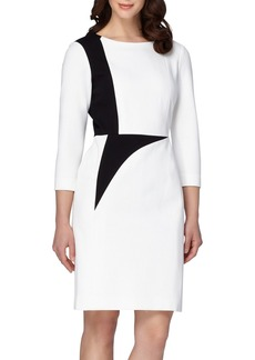 Tahari Colorblock Ponte Sheath Dress