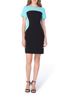 Tahari Colorblock Sheath Dress (Regular & Petite)