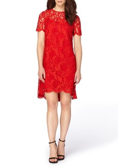 Tahari Corded Lace Swing Dress