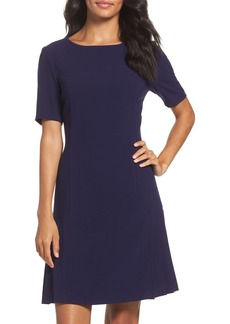 Tahari Crepe Fit & Flare Dress (Regular & Petite)