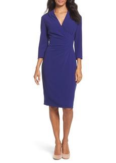 Tahari Crepe Sheath Dress (Regular & Petite)