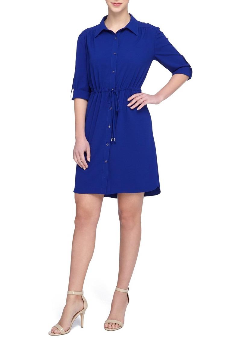 Tahari Crepe Shirtdress (Regular & Petite)