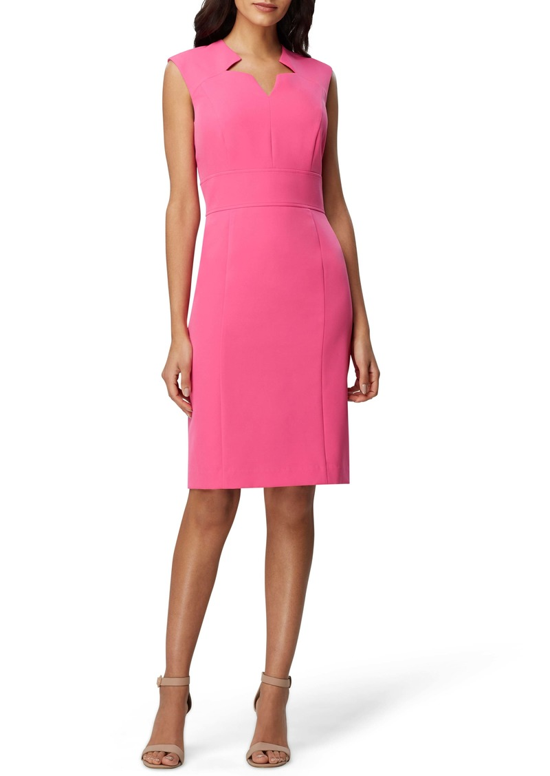 Tahari Crepe Star Sheath Dress