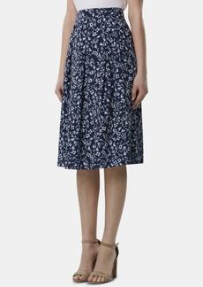 Tahari Asl Petite Pleated Floral-Print Skirt
