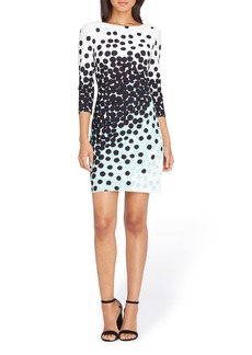 Tahari Dot Sheath Dress