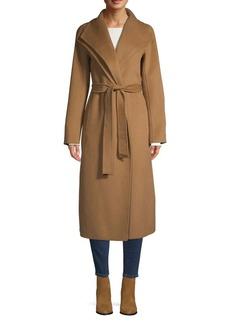 Tahari Double Wing Collar Wrap Coat