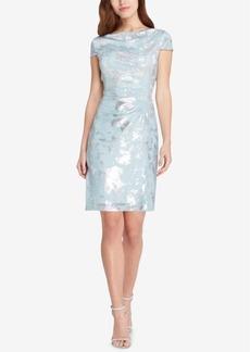 Tahari Draped Metallic Dress