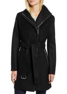Tahari Elaine Boiled Wool Blend Coat