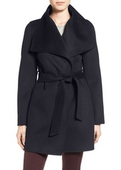 Tahari 'Ella' Belted Double Face Wool Blend Wrap Coat (Regular & Petite)