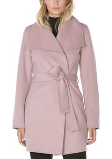 Tahari Ella Double Face Belted Wrap Coat