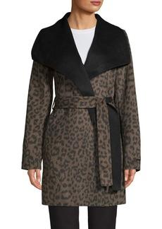 Tahari Ella Leopard Wrap Jacket