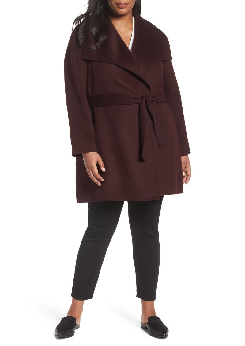 67b0d346f5363 Tahari Tahari  Ella  Wrap Coat (Plus Size)