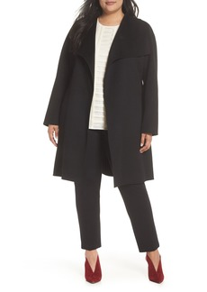 Tahari Ellie Double Face Wool Blend Wrap Coat (Plus Size)