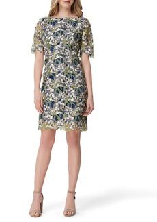 Tahari Embellished Lace Sheath Dress (Regular & Petite)