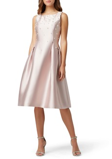 Tahari Embellished Mikado Cocktail Dress