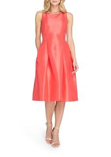 Tahari Embellished Shantung Midi Dress (Regular & Petite)