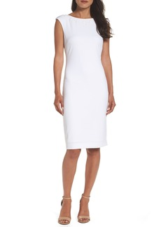 Tahari Embellished Sheath Dress (Regular & Petite)