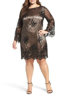 Tahari Embellished Shift Dress (Plus Size)