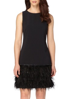 Tahari Embellished Stretch Drop Waist Dress (Regular & Petite)