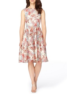 Tahari Embroidered Fit & Flare Dress (Regular & Petite)