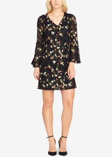 Tahari Embroidered Lace Shift Dress