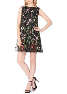 Tahari Embroidered Shift Dress (Regular & Petite)