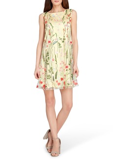 Tahari Embroidered Shift Dress (Regular & Petite)