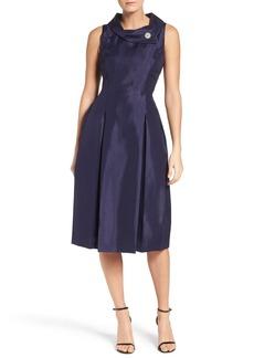 Tahari Envelope Neck Dress (Regular & Petite)