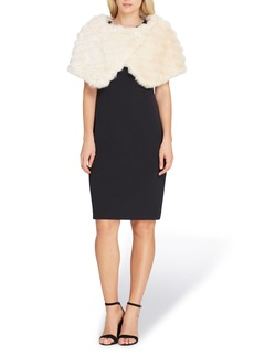 Tahari Faux Fur Cape