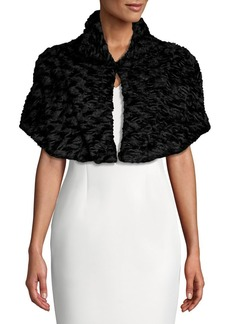 Tahari Faux Fur Cropped Topper Cape