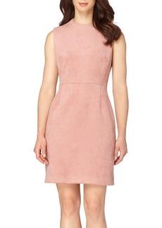 Tahari Faux Suede Sheath Dress (Petite)