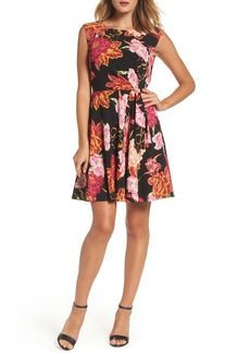 Tahari Faux Wrap Dress