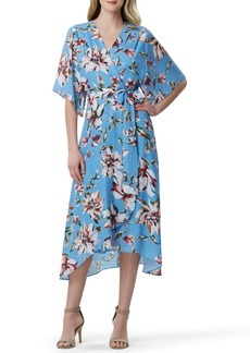 Tahari Faux Wrap Midi Dress