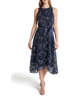 Tahari Floral Embroidered Cocktail Dress