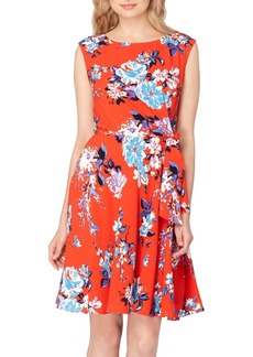 Tahari Floral Faux Wrap Dress
