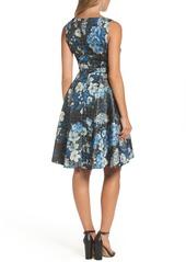 Tahari Floral Fit & Flare Dress