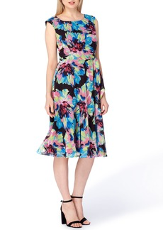 Tahari Floral Fit & Flare Dress