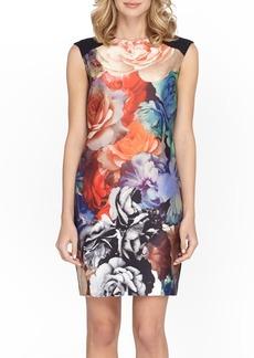 Tahari Floral Jacquard Sheath Dress