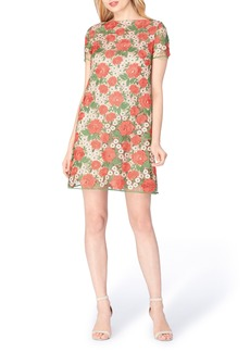 Tahari Floral Lace Shift Dress (Regular & Petite)