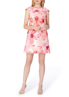 Tahari Floral Mikado Shift Dress
