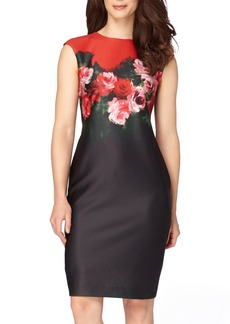 Tahari Floral Print Sheath Dress