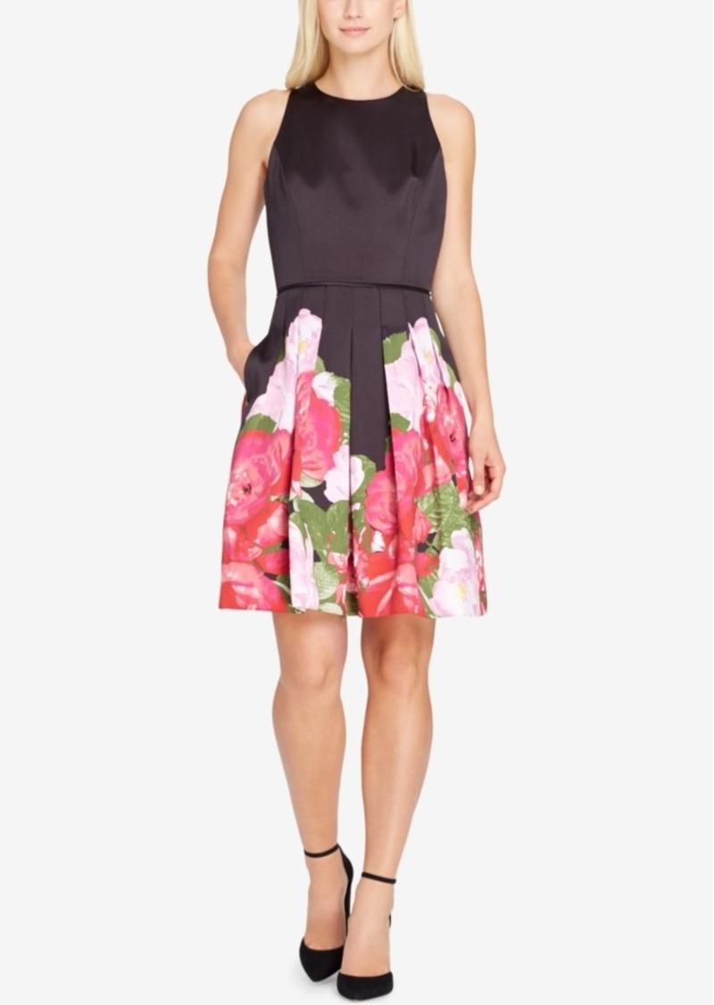 3add13660fbc7 SALE! Tahari Tahari Asl Floral Satin Fit & Flare Dress